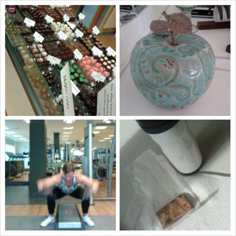 Chokladpraliner, heminredning, galenhopp och egna proteinbars. En väldigt fin helg!