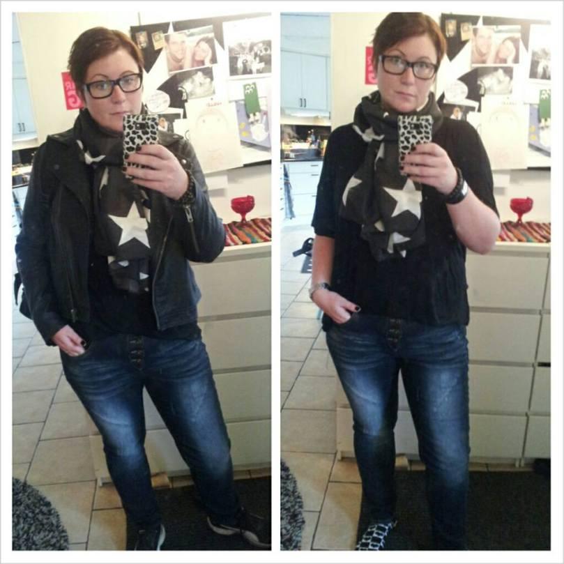 Anna S gillar svart som jag men har femtielva sjalar att piffa med - det har inte jag!